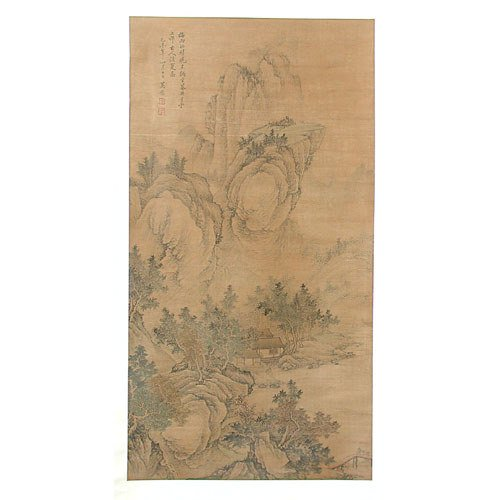 86: Chinese Scroll Painting Landscape.