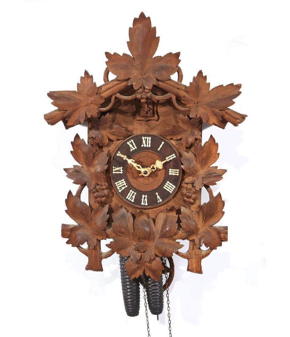 German carved cuckoo clock