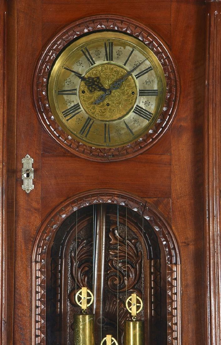 Vienna regulator tall case clock, signed Alois Sutz - 2
