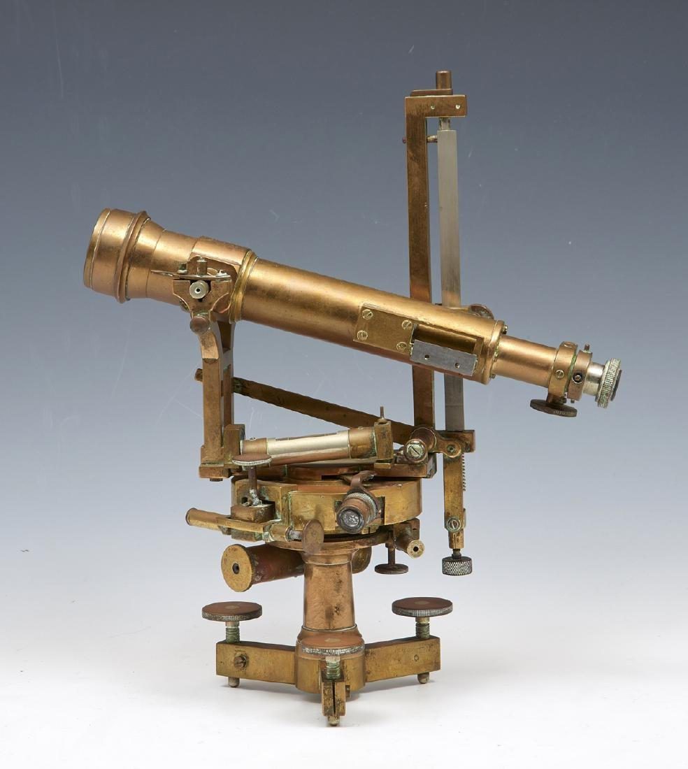 Brass theodolite, signed Secretan Paris - 2
