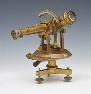 Brass theodolite, unmarked