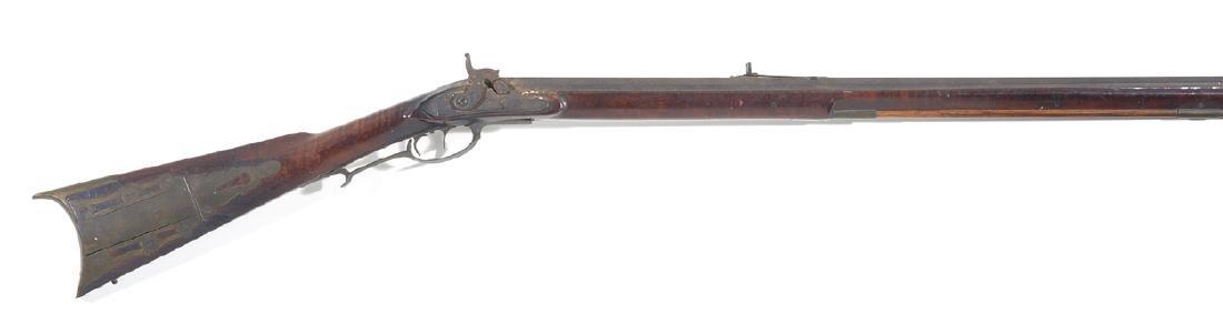 "Kentucky long rifle, 61"", tiger maple stock"