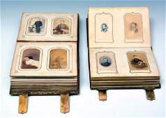 (2) 19th century photographic albums, albumen CDVs