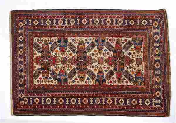"""Antique Persian scatter rug, 6' 7"""" x 4' 6"""""""