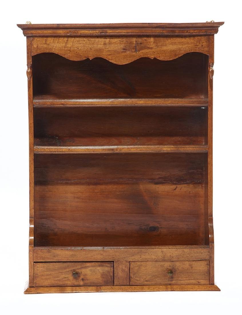 George III style mahogany wall shelf