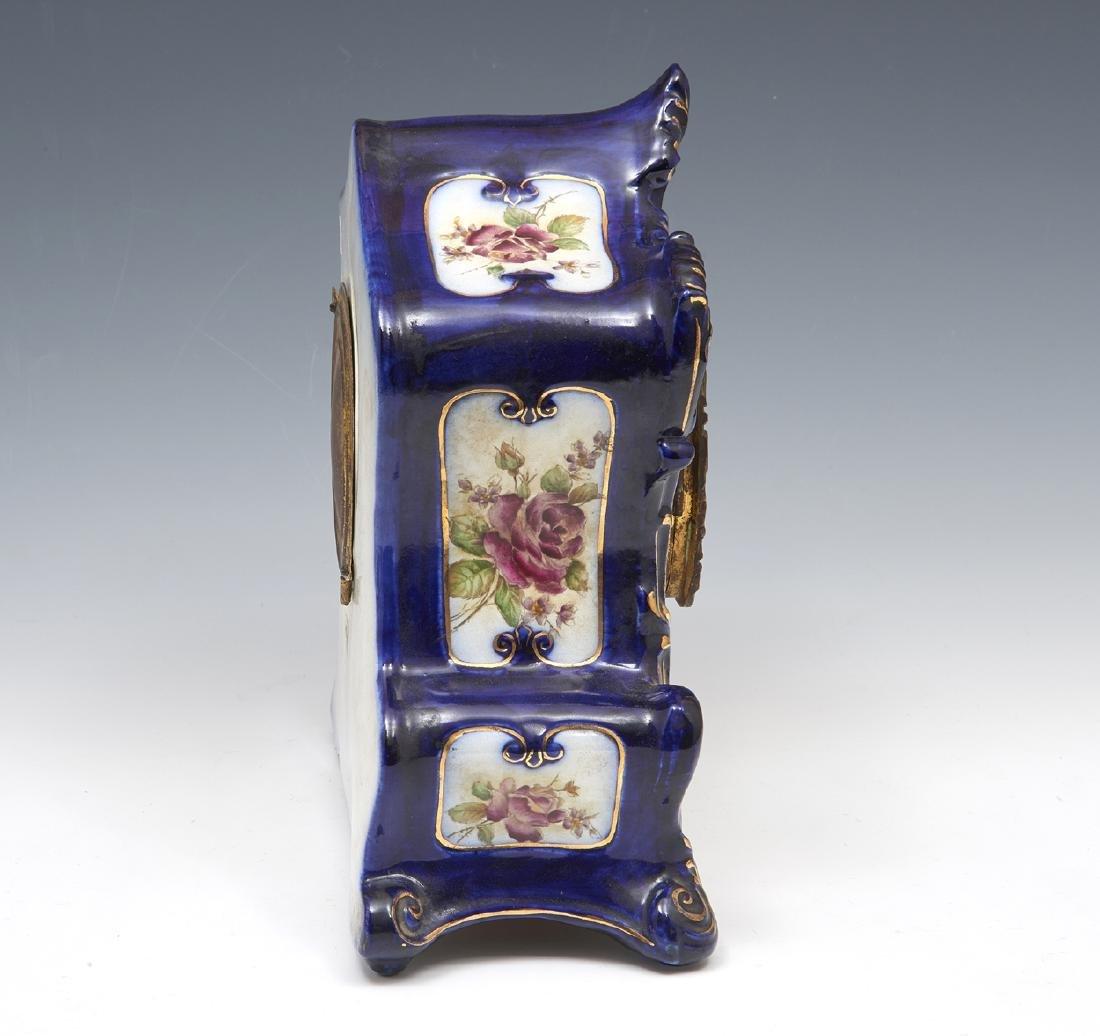 "Ansonia porcelain case mantle clock, ""Wampum"" - 2"