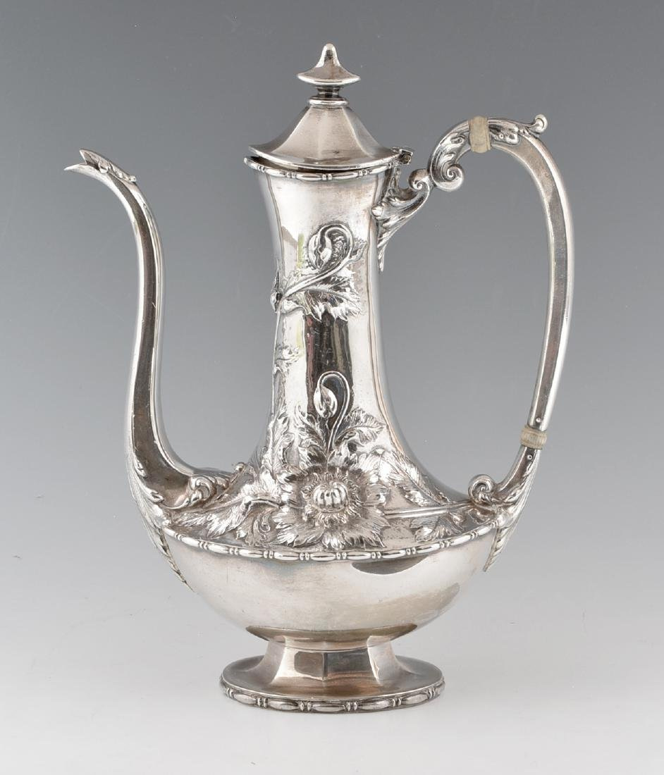 Reed & Barton sterling silver repousse floral coffee