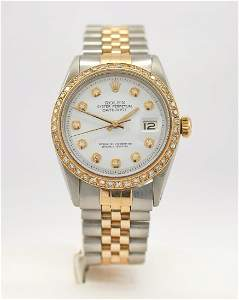 Rolex Oyster Perpetual Datejust men's watch, 18k