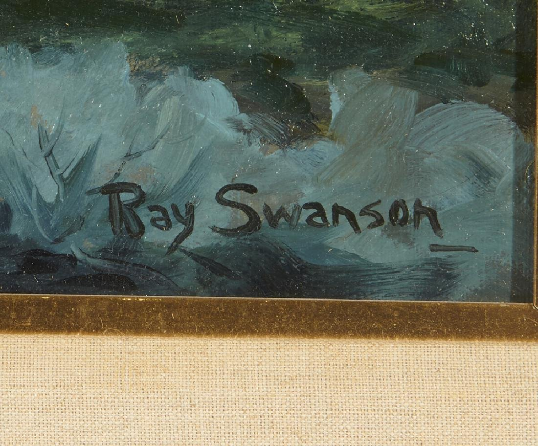 Ray Swanson, mountain lake landscape, o/c - 3