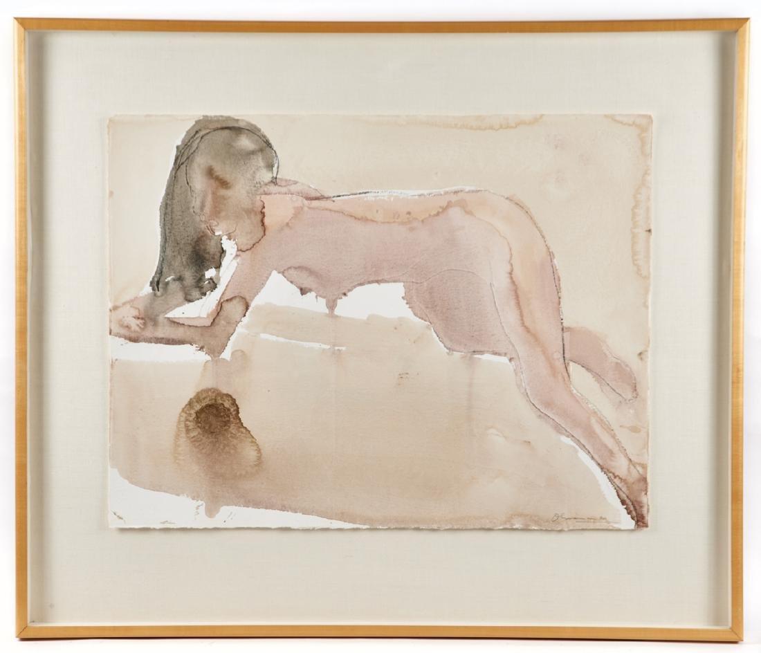 Nathan Oliveira, Figure Study, Untitled, 1990, w/c
