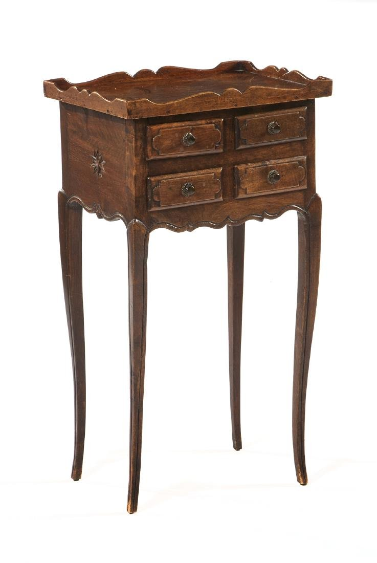 French four drawer walnut commode