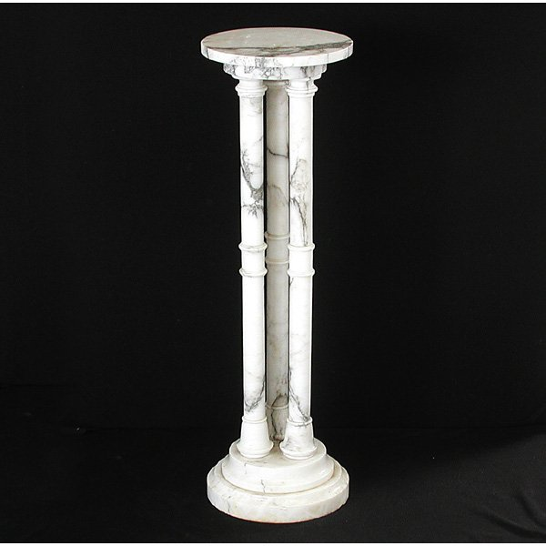 4: White Marble Pedestal