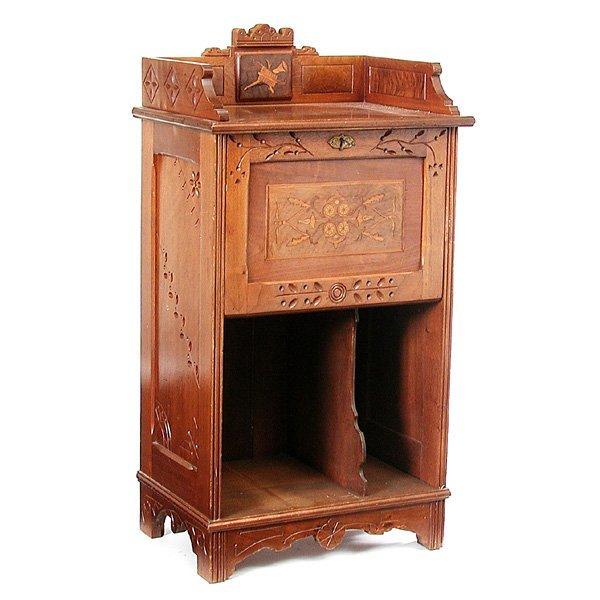 10: Eastlake Walnut Music Cabinet