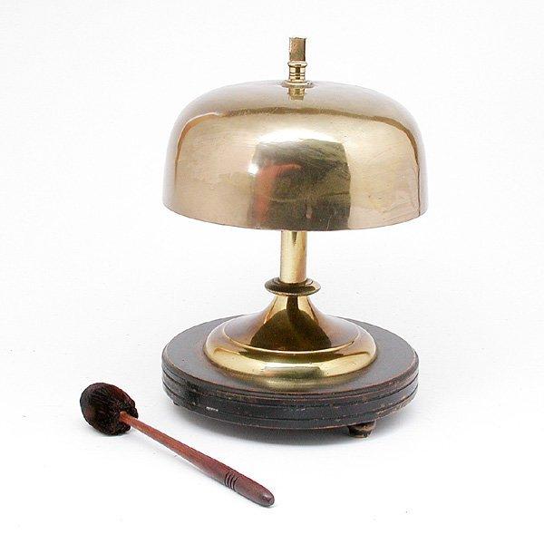 18: Brass Dinner Bell On Stand