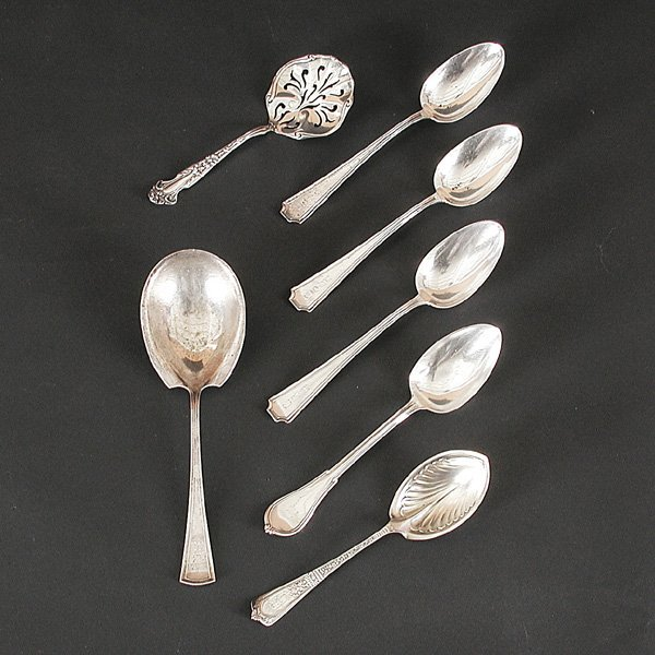 136: Sterling Silver Serving Spoons