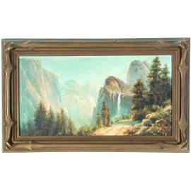 352: A.M. Muller California Yosemite Painting