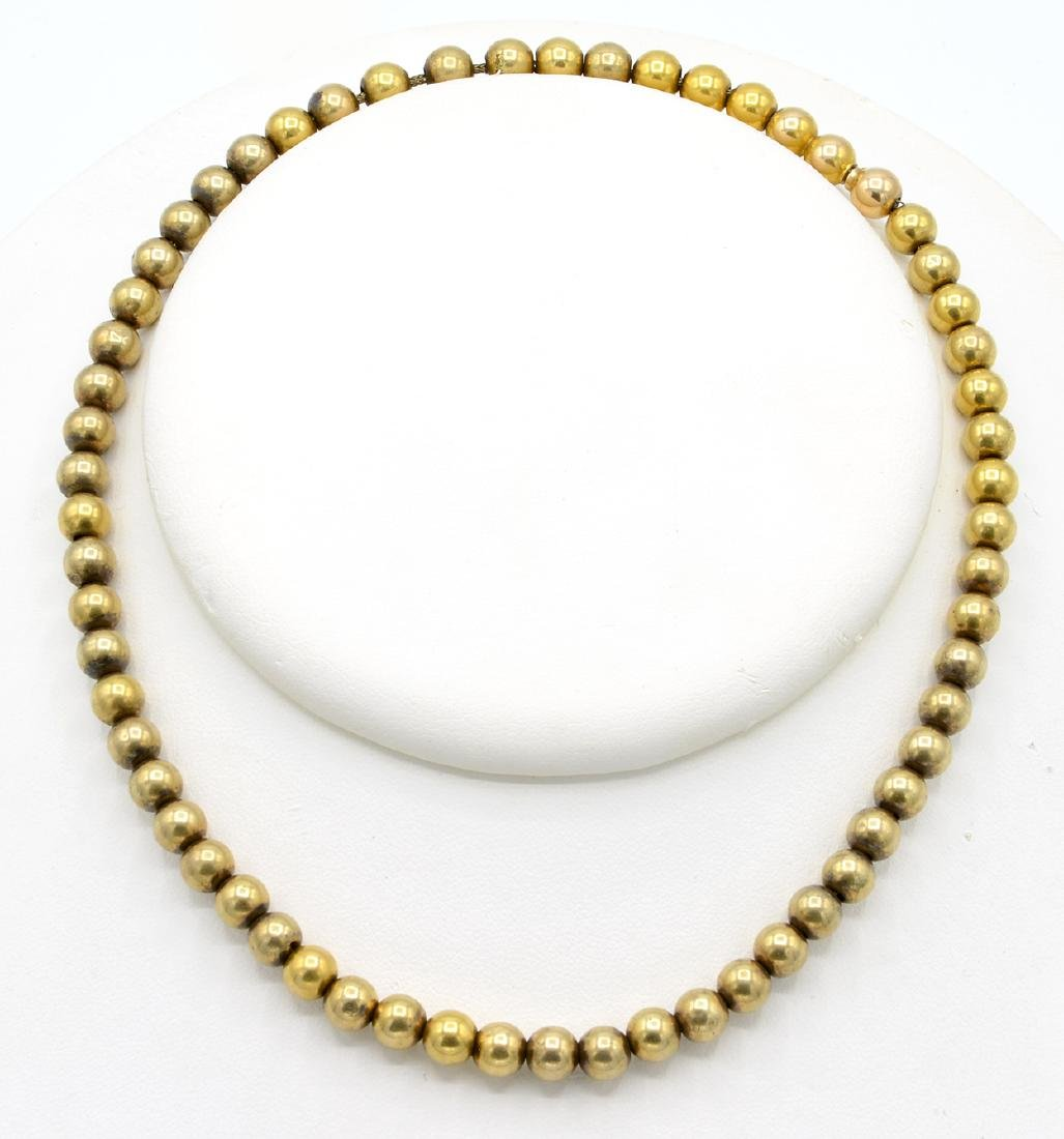 14k Yellow gold Victorian bead necklace