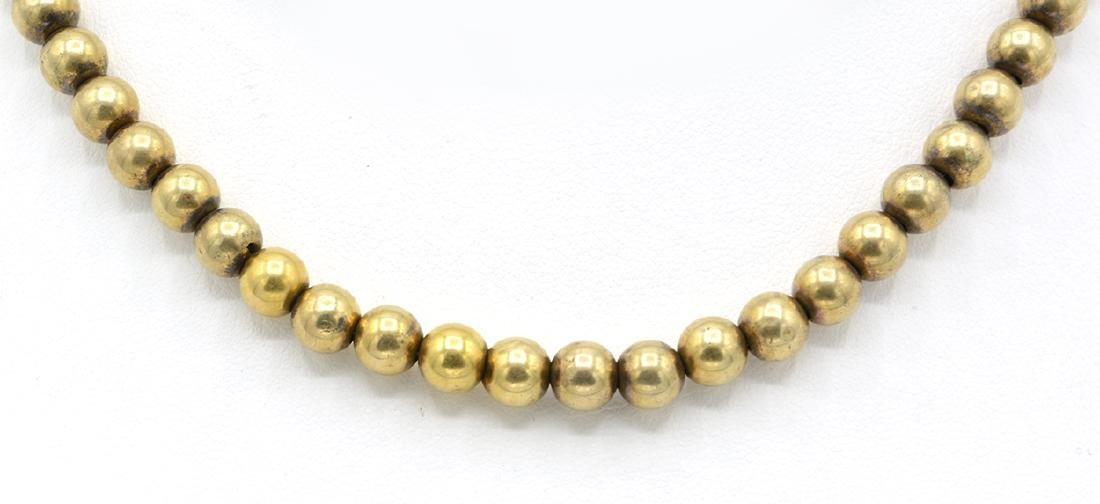 14k Yellow gold Victorian bead necklace - 2