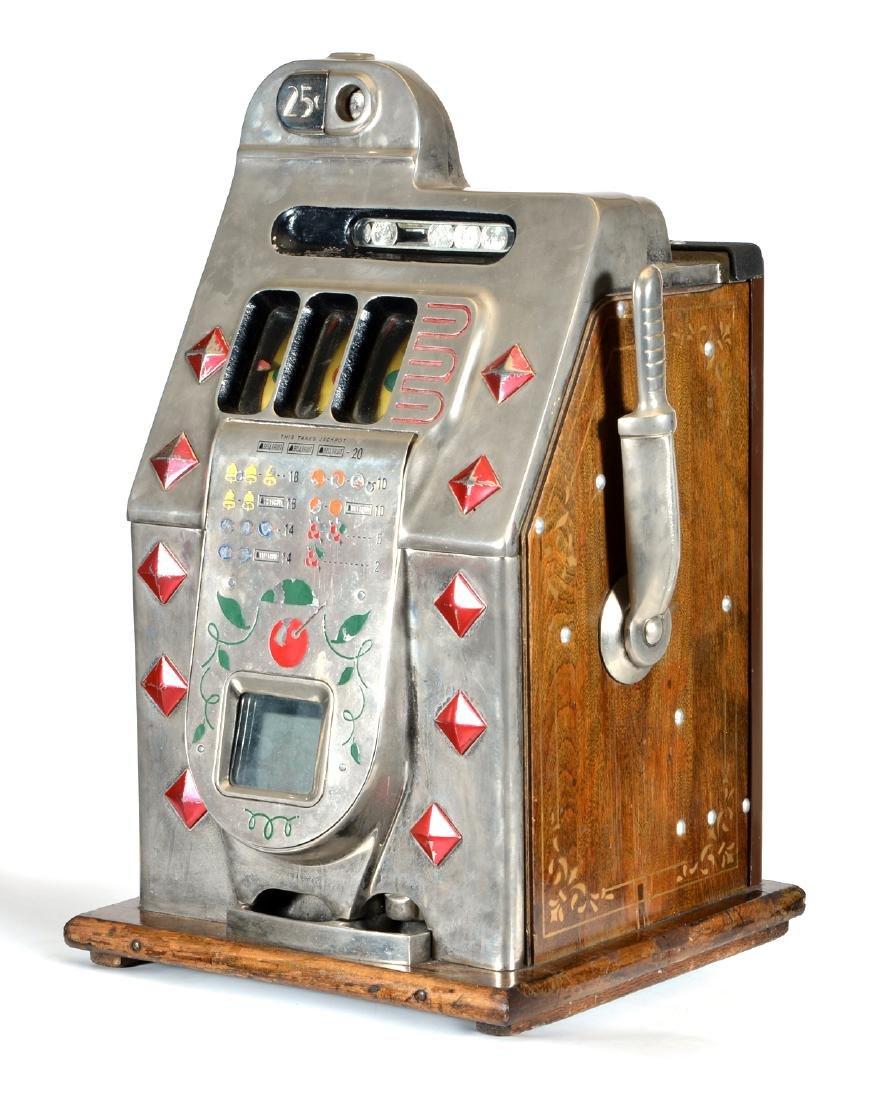 Antique 25 Cent Mills Diamond Front Slot Machine