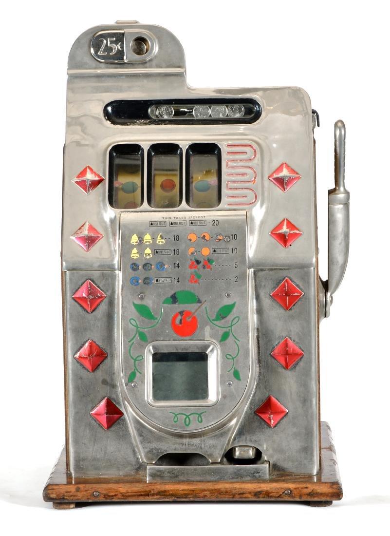 Antique 25 Cent Mills Diamond Front Slot Machine - 2