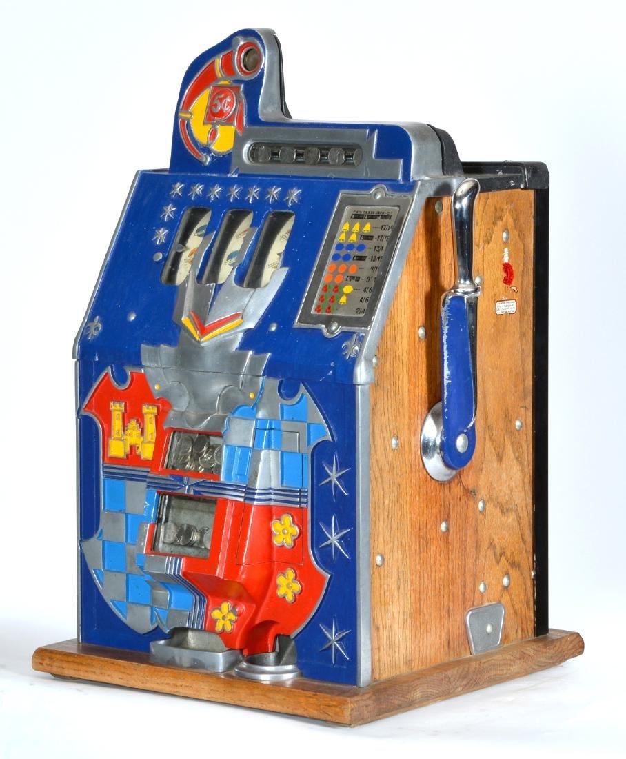 Antique 5 Cent Mills Castle Front Slot Machine