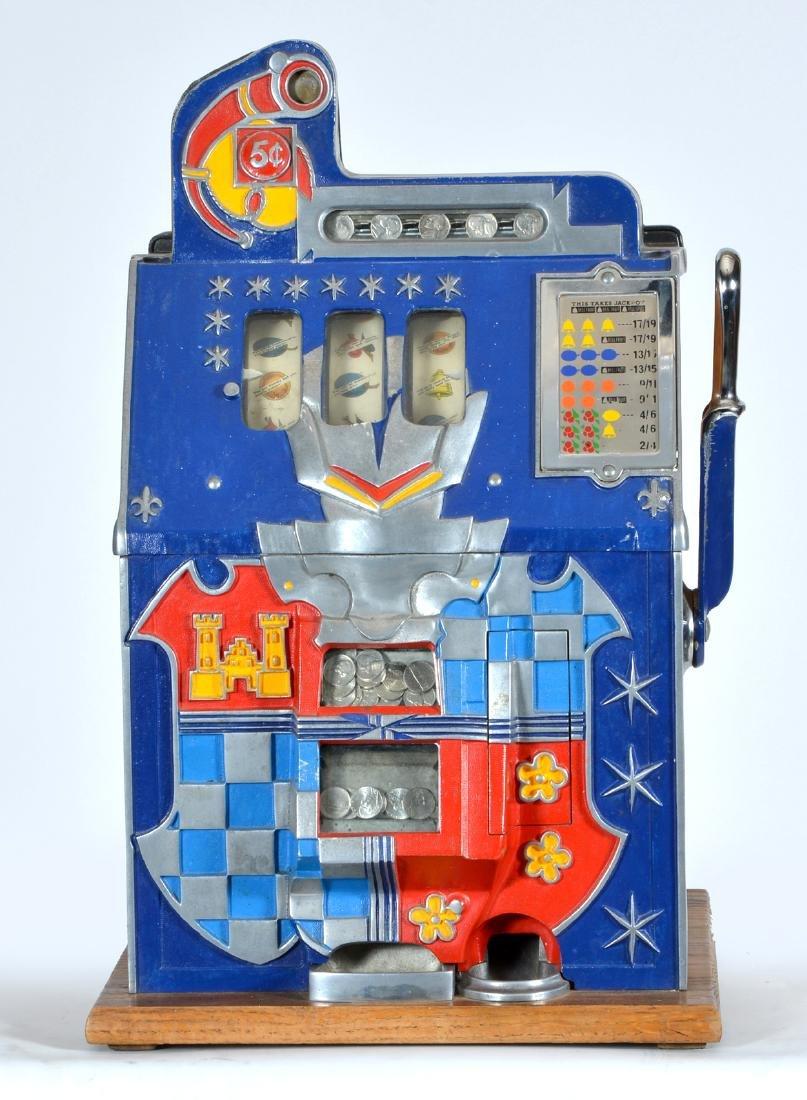 Antique 5 Cent Mills Castle Front Slot Machine - 2