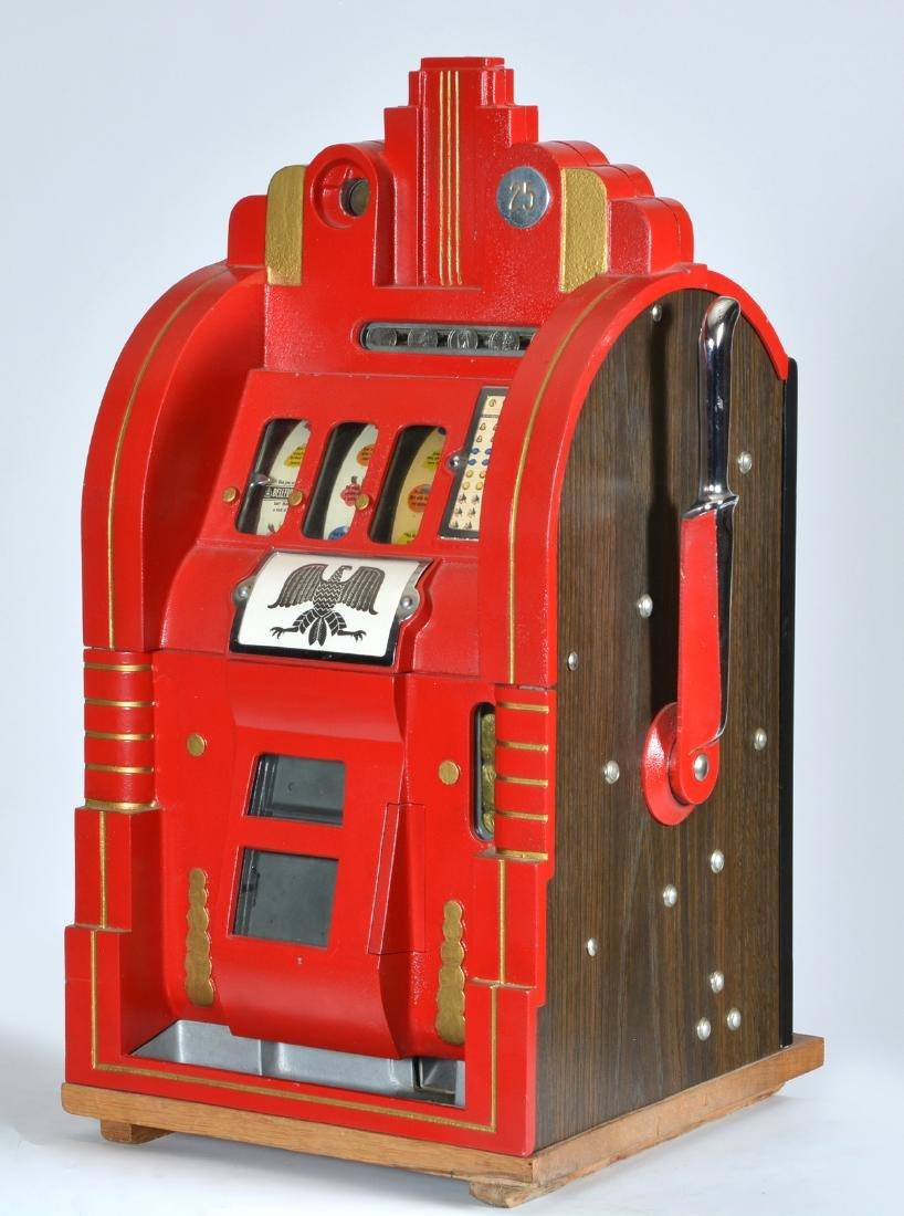 Antique 25 Cent Mills Extraordinary Slot Machine