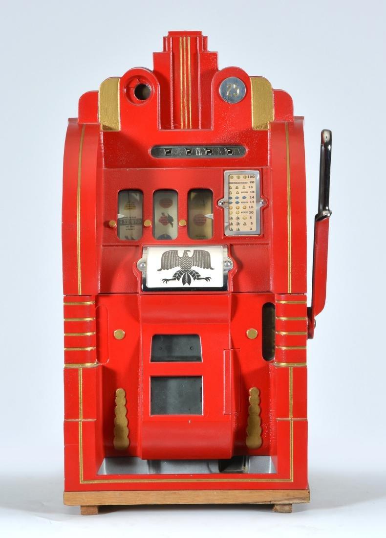 Antique 25 Cent Mills Extraordinary Slot Machine - 2