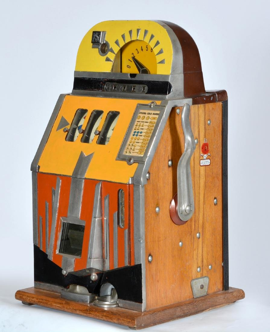 Rare Antique 25 Cent Mills Futurity Slot Machine