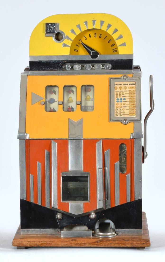 Rare Antique 25 Cent Mills Futurity Slot Machine - 2