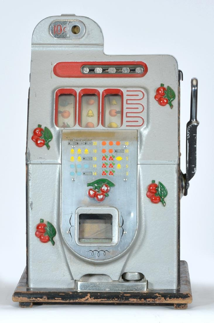 Antique Mills 10 Cent Cherry Slot Machine - 2