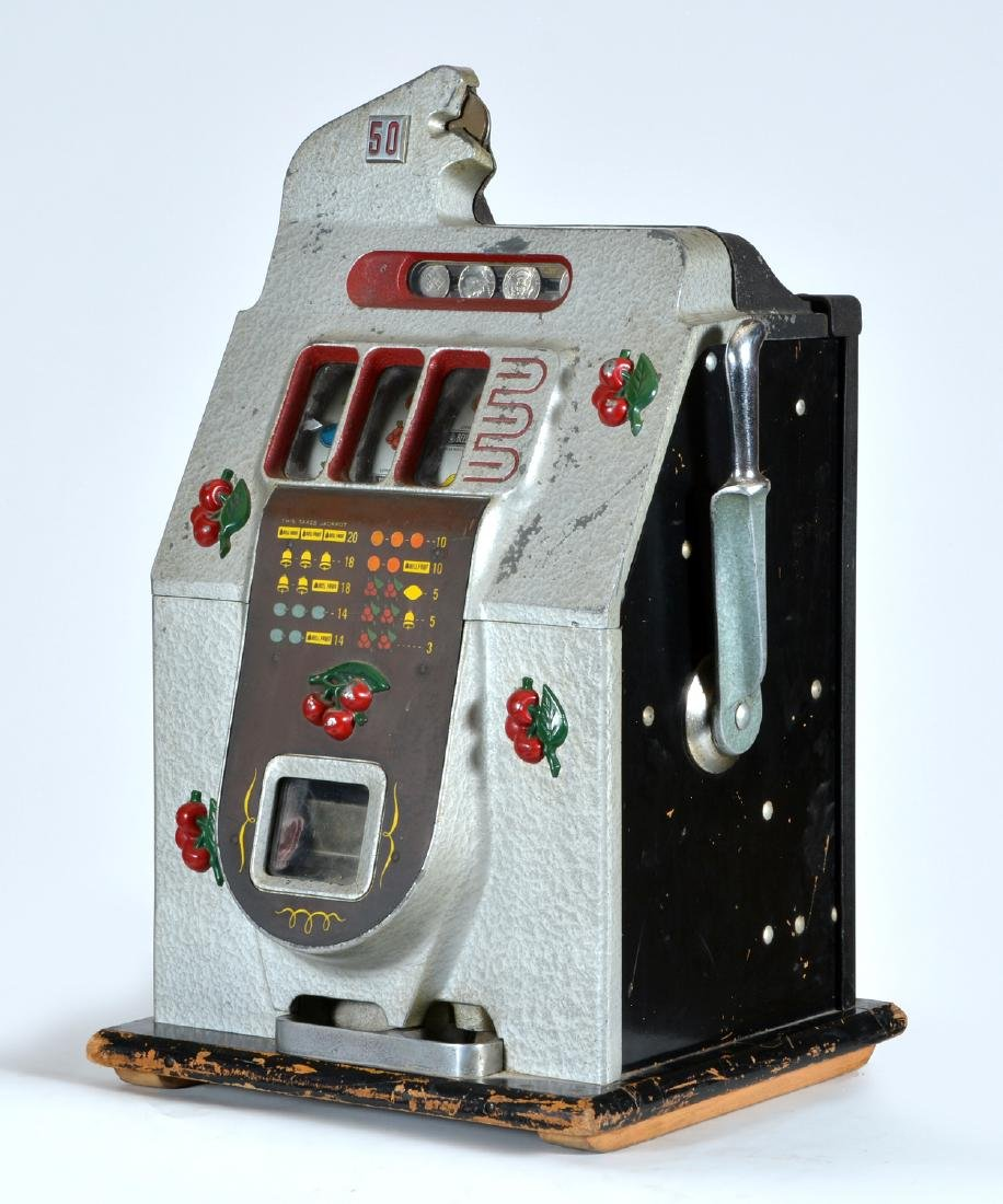 Antique Mills 50 Cent Cherry Slot Machine