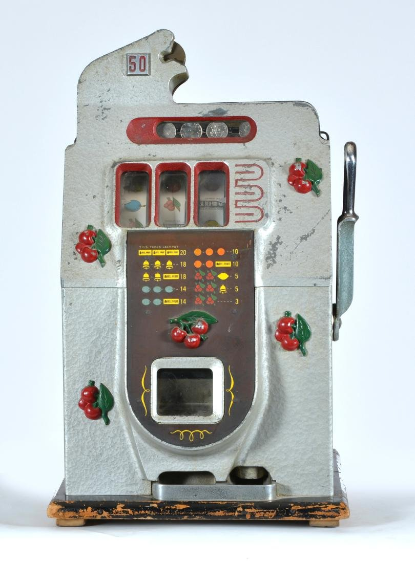 Antique Mills 50 Cent Cherry Slot Machine - 2