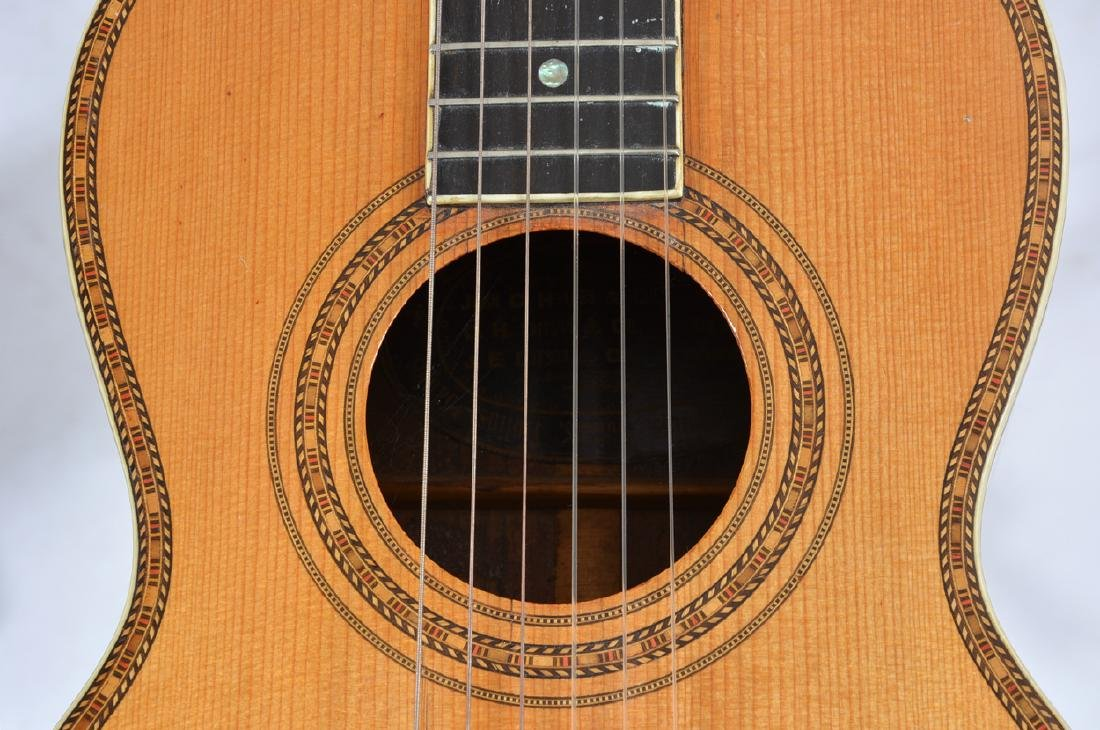19th C Bay State Style 209 acoustic 6 string guitar - 5