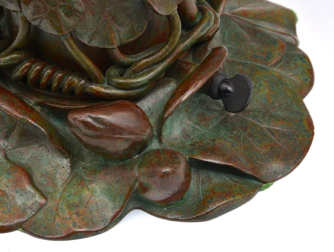 "Rare Tiffany Studios 18 Light Pond Lily Lamp, 21"" t - 3"