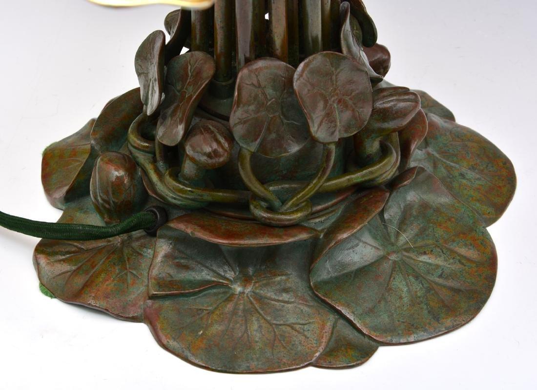 "Rare Tiffany Studios 18 Light Pond Lily Lamp, 21"" t - 4"