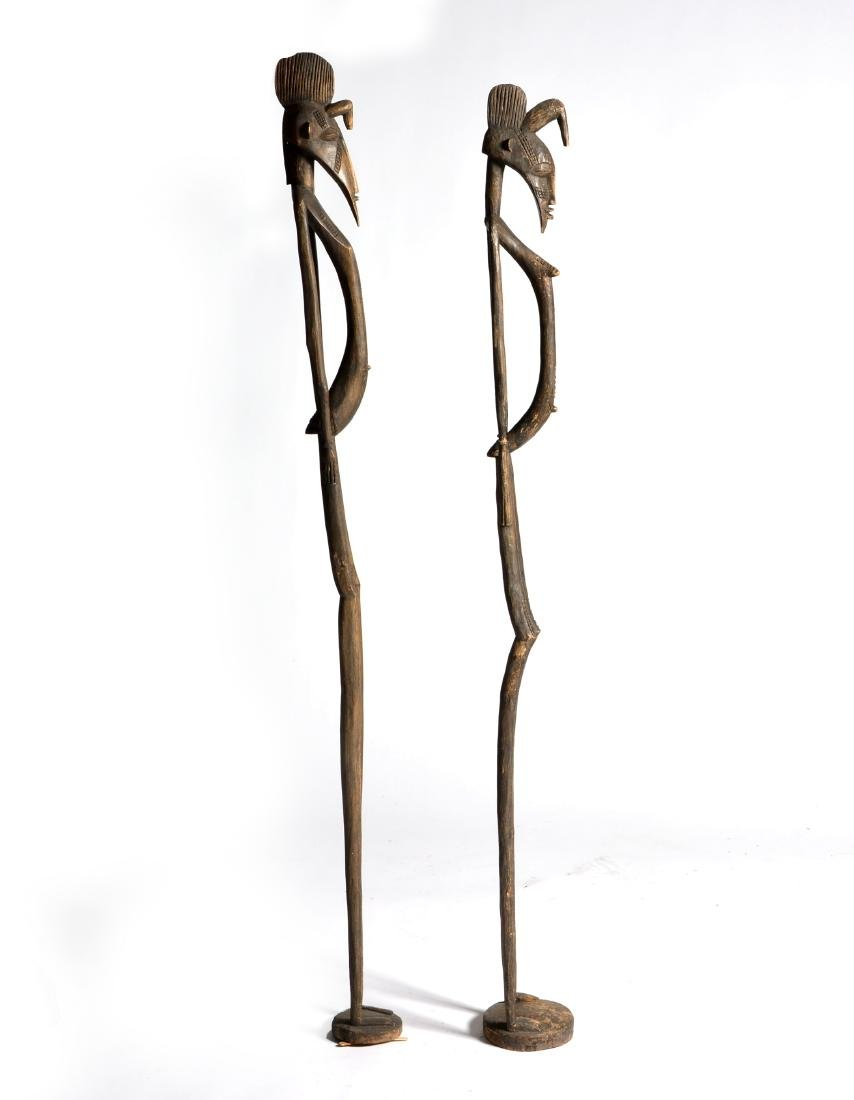 Two African Ugandan carved wooden figures - 2