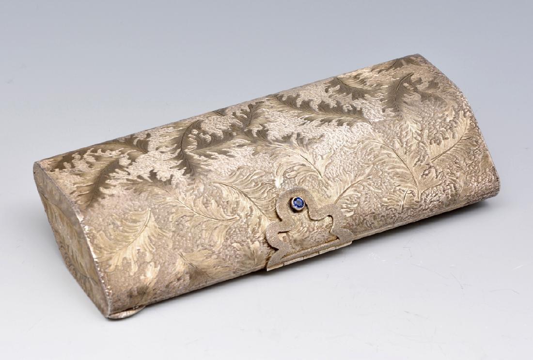Sterling silver minaudiere vanity purse