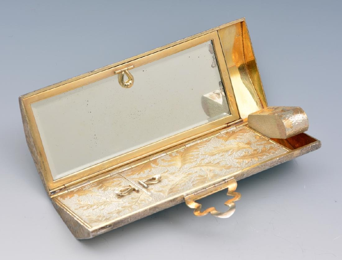 Sterling silver minaudiere vanity purse - 2