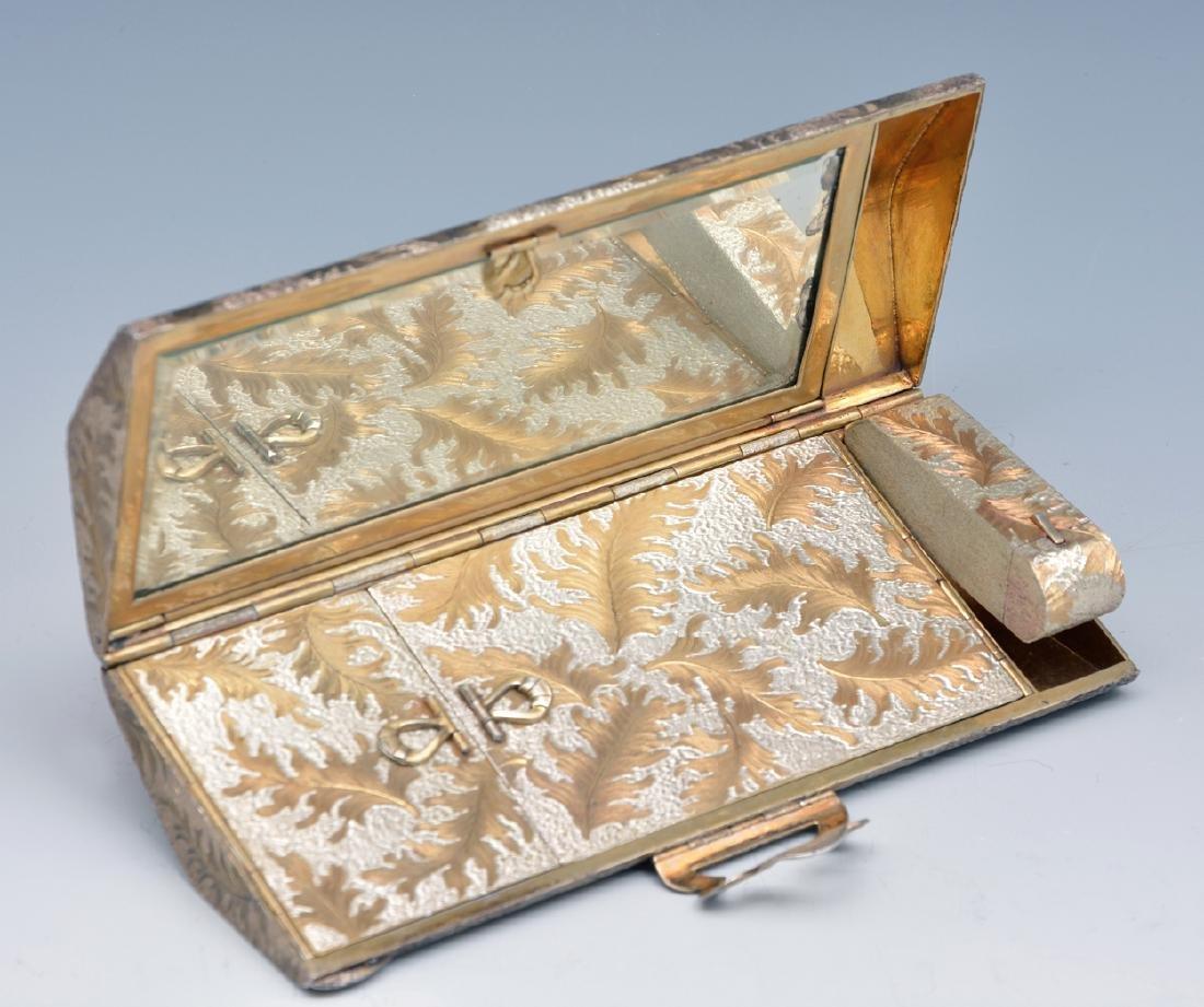 Sterling silver minaudiere vanity purse - 3