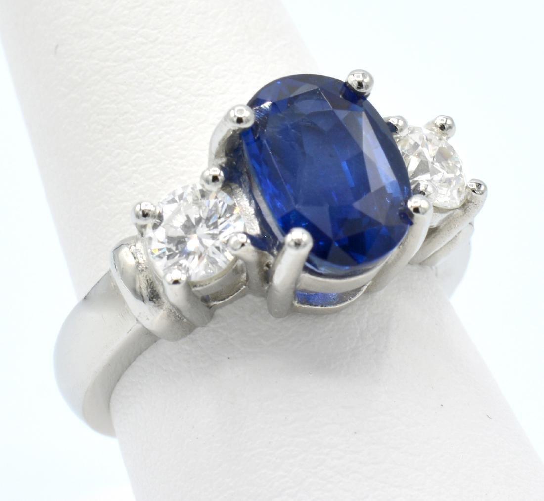 GIA 3.74ct Burma Sapphire, Platinum & Diamond  Ring