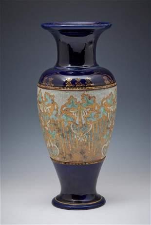 Royal Doulton Slater cobalt vase 18 12 t