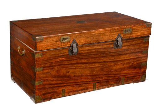 Campaign Chest Camphor Wood Anglo Indian