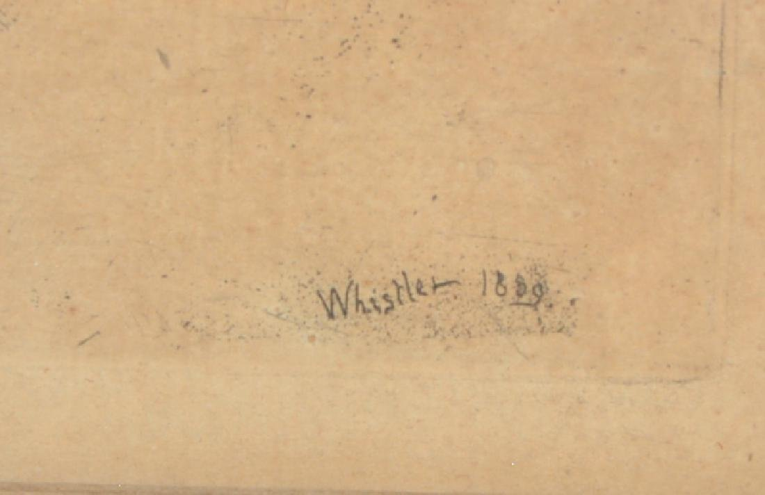 "James McNeill Whistler, ""Thames Warehouses"" Engraving - 3"
