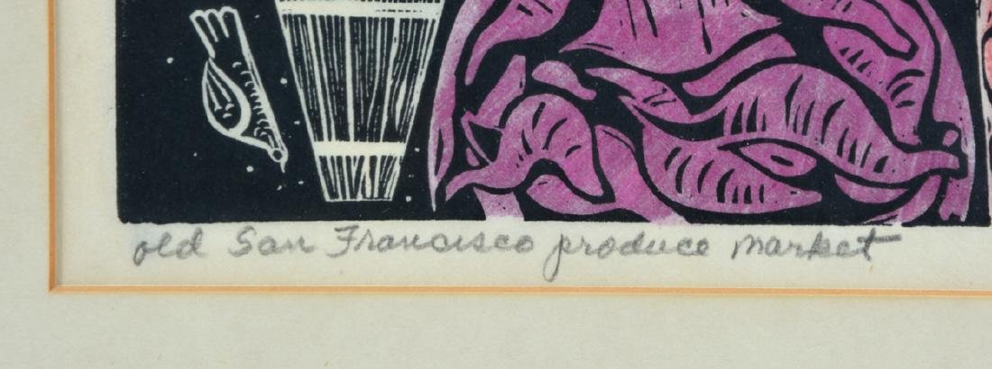 Emmy Lou Packard, Lithograph, Old SF Produce Market - 3