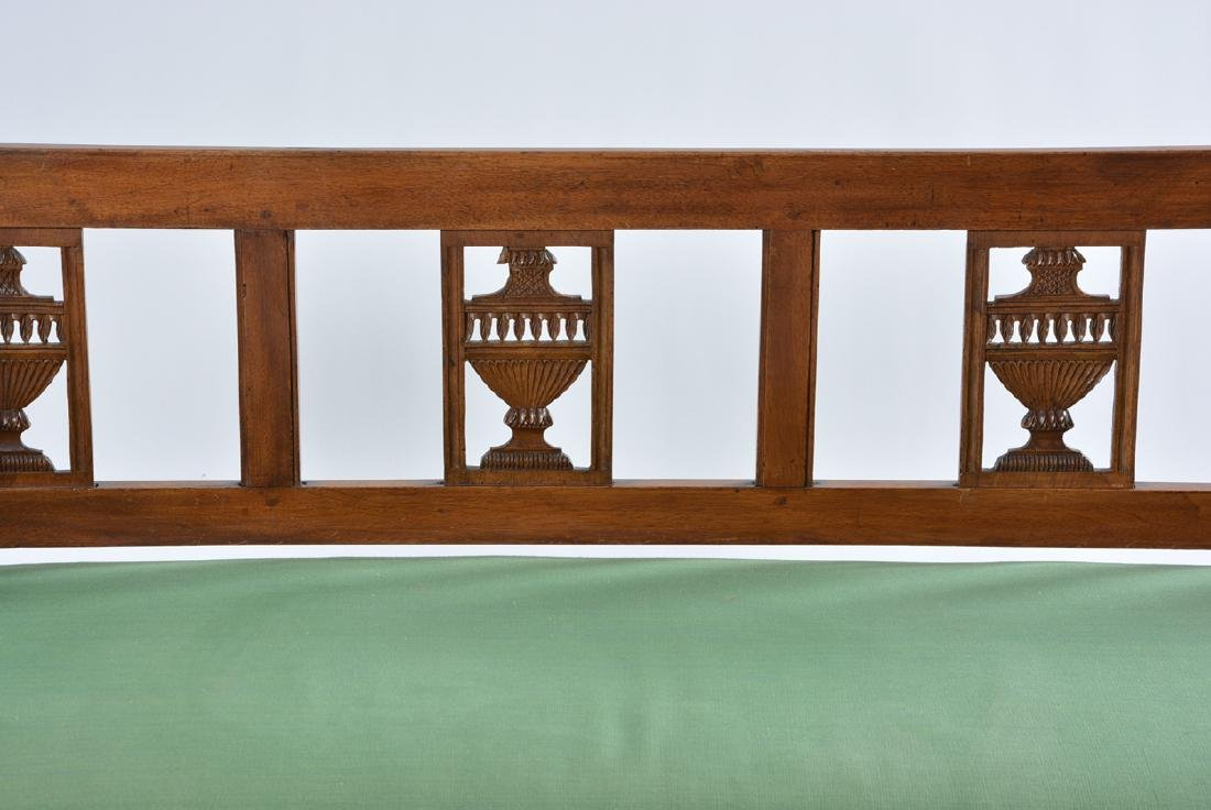 Continental  Neoclassical Style Mahogany Bench - 2
