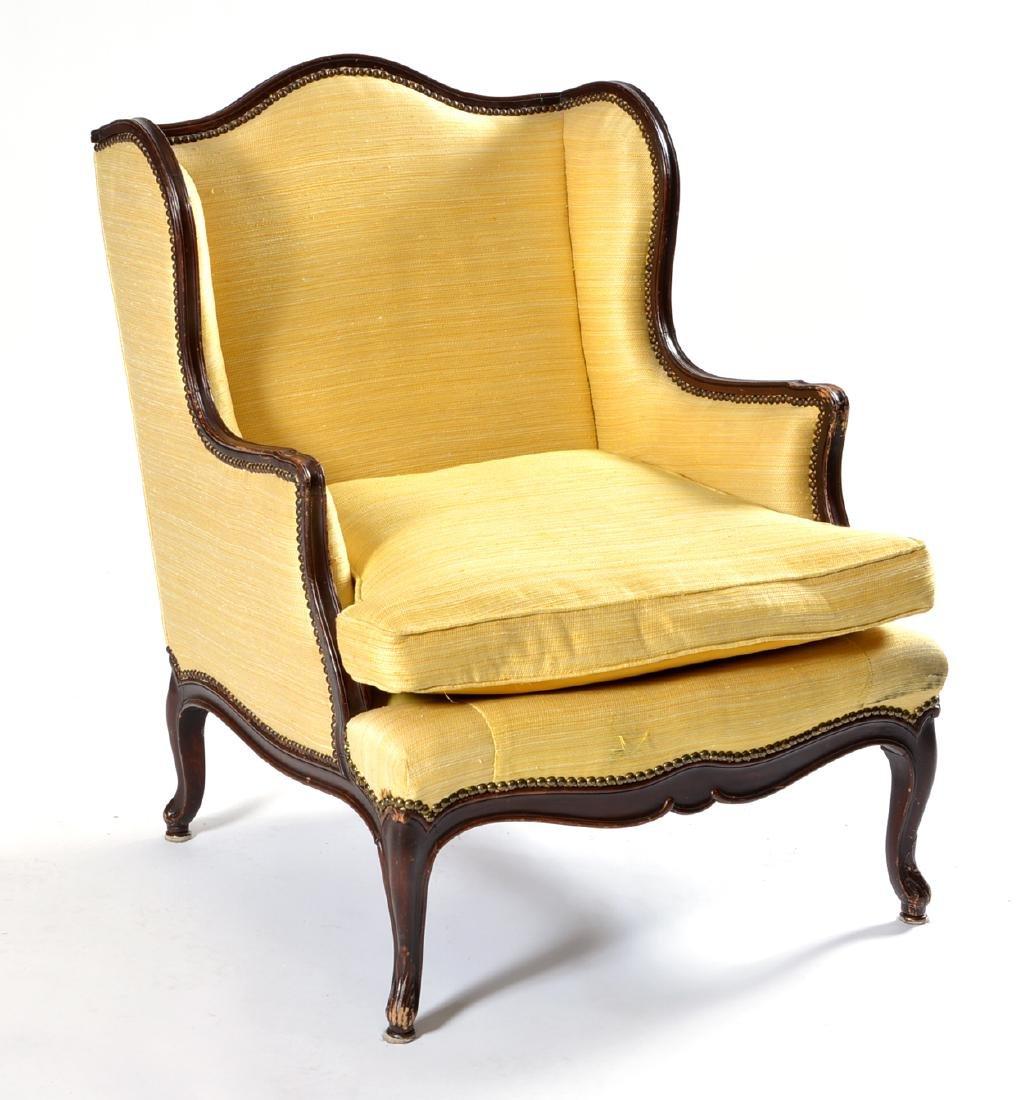 Louis XV Style Mahogany Bergere