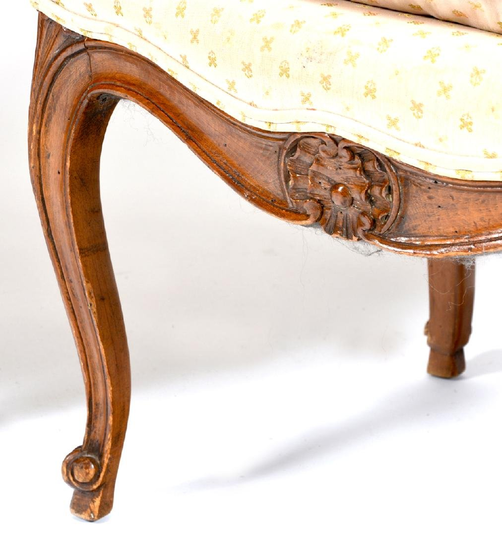 Pair of French provincial arm chairs - 3