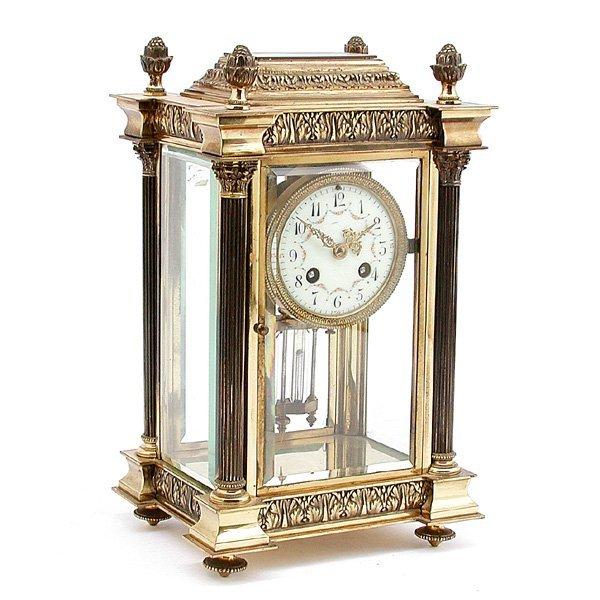 6: Tiffany & Co. Crystal Regulator Clock
