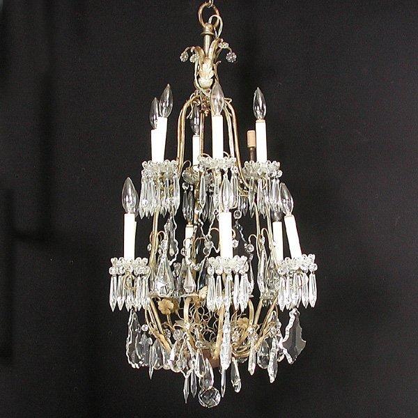 7: Twelve light French style chandelier circa 1900